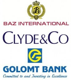 BAZ International, Clyde & Co, Golomt Bank Logos